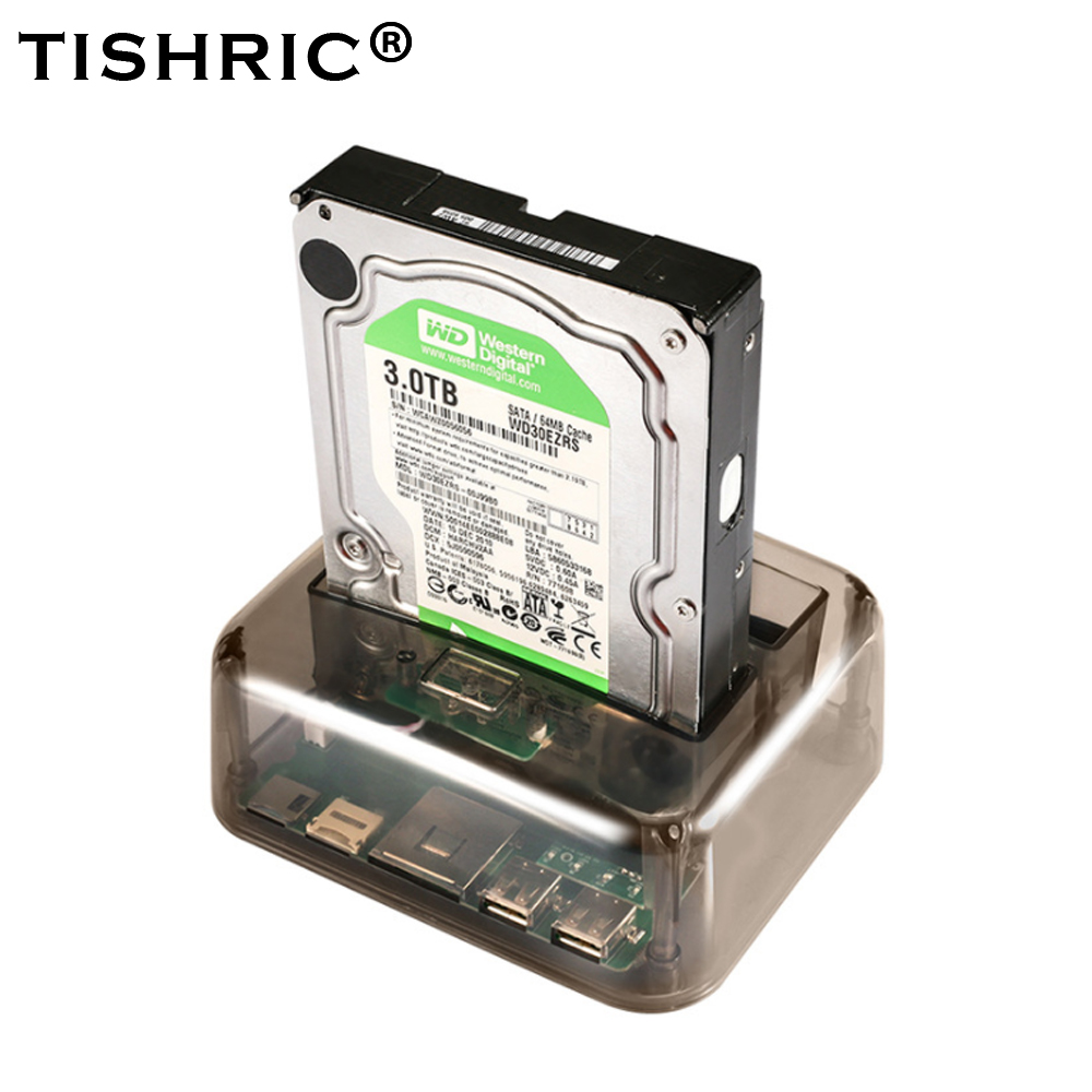 TISHRIC HDD Docking Station IDE SATA 2 In 1 HDD Dock Internal Hard Disk Drive For 2.5 3.5 Inch SSD Disk Case Reader USB 2.0 image