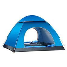 3-4 Person Camping Tent Waterproof Quick Automatic Opening Set Up Family Travel Beach Camp Portable Shelter Easy Open