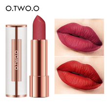 O.TWO.O Matte Lipstick Nude Brown Red Lips Makeup Velvet Sil