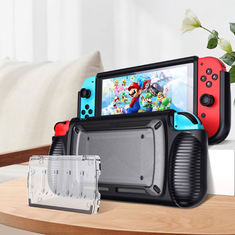Two-color Soft TPU Protective Case Shell Skin Protector for Nintend Switch NS Console Handle Grip Accessories
