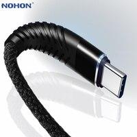 NOHON 3M 2M 1M 0,2 M Typ C USB Schnelle Lade Hohe Zug-Kabel Für Huawei Samsung s8 S9 Hinweis 9 8 Xiaomi Mi8 Mi6 Daten Sync Draht