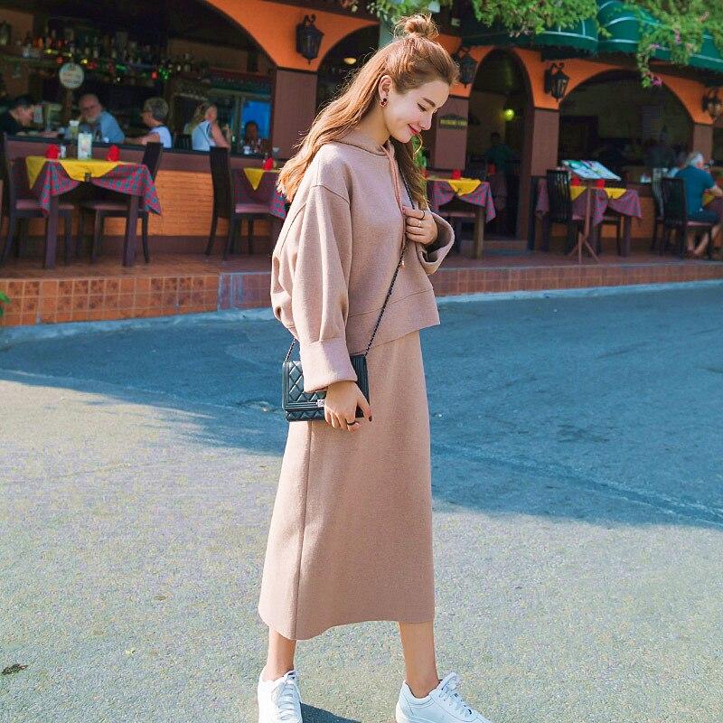 Poussée principale actuellement disponible 2017 vêtements pour femmes de style coréen Burr Craft corée du sud nouveaux produits ensemble tricoté en tissu une génération