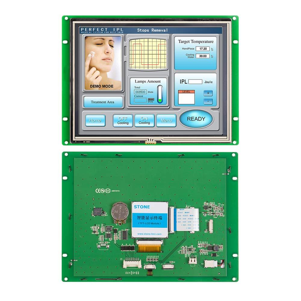8 inch HMI Serial LCD Panel Module with Controller Board + Software + Touch Screen for Industrial Control STVC080WT-01