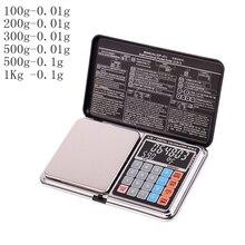 Многофункциональный расчет весы мини ЖК-дисплей цифровые карманные весы 100/200/300/500/1000g 0,01/0,1 г ювелирные весы баланс веса