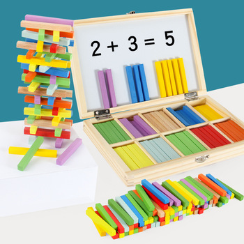Montessori Toys Math Educational Wooden Toys for Children Early Learning Puzzle Kids Number Counting Sticks Teaching Aids wooden mathematics teaching aids calculation frame children early education puzzle educational toys montessori in math toy