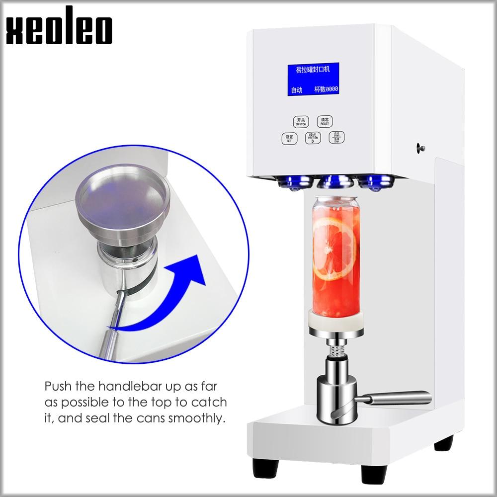 XEOLEO Cans Sealing Machine Beverage Bottle Sealing Machine 55mm Drink Bottle Sealer Commercial Coffee Can Seal Machine 370W