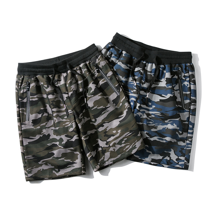 Beach Shorts Swimsuit Quick-Dry Summer Men Casual Camouflage Bermudas Elastic Waist