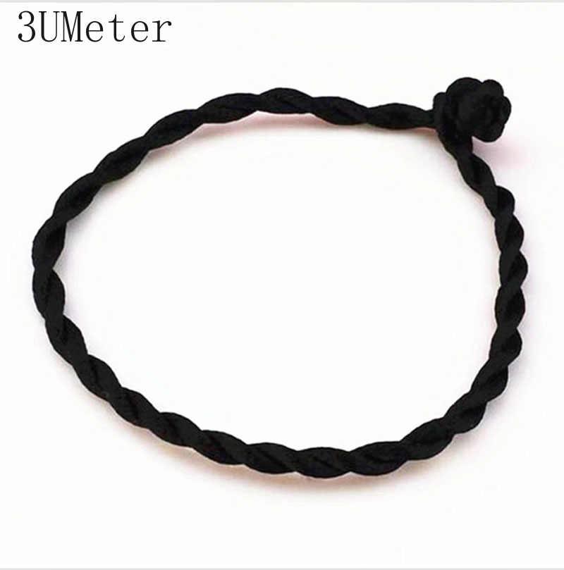3UMeter offre spéciale 1PC fil rouge chaîne Bracelet chanceux rouge vert fait à la main corde Bracelet pour femmes hommes bijoux amant Couple