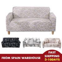 Funda de sofá elástica para sala de estar funda de sofá en forma de L fundas individuales seccionales sofás individuales/dos/tres asientos