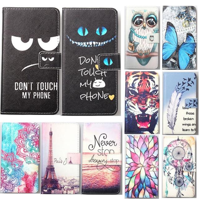 For Alcatel 1V 3X 2019 Black Fox B6 B7 B4 mini NFC BLU C6 Advance L5 Vivo X5 XL5 Bold N1 PU Painted flip cover slot phone case