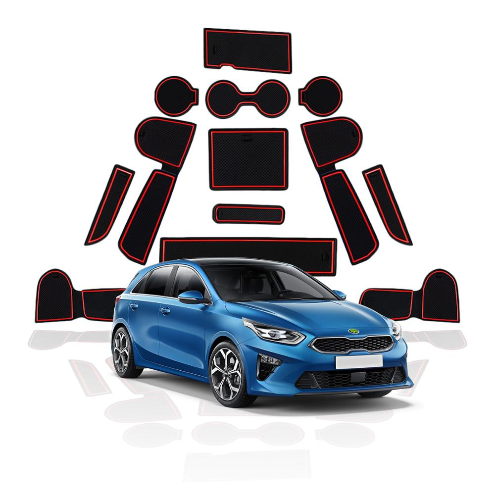 RUIYA Door Groove Mat For Kia Ceed 2018 2019/XCeed 2020 Car Anti Slip Gate Slot Pads Auto Interior Front And Rear Door Dust PadScreen Protectors   - AliExpress