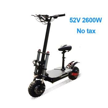 Patinete eléctrico todoterreno para adultos, Scooter plegable de 2600W, sin impuestos, 52V