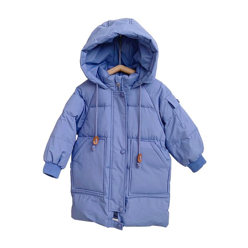 Новинка 2020, зимняя пуховая куртка для девочек и мальчиков, средней длины, водонепроницаемый теплый комбинезон с капюшоном, детская одежда