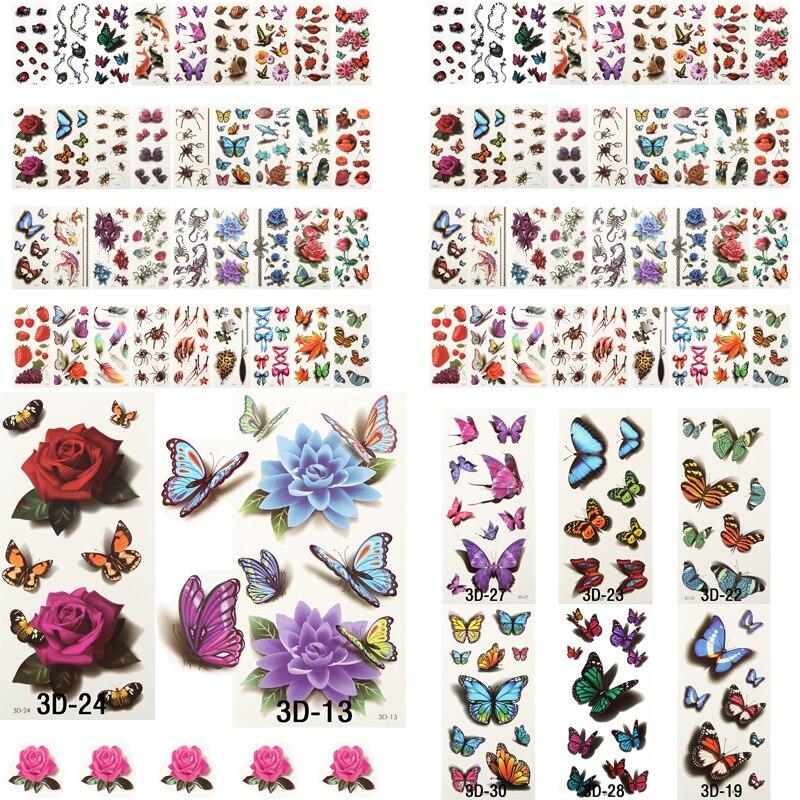 100 Sheets Health Beauty Body Art Temporary Tattoos Gold Flash Metallic Tattoo Sticker Henna Women Jewelry Tattoo Waterproof