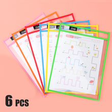 A4 Reusable PP File Dry Erase Pockets With Pen Transparent Write And Wipe Drawing Whiteboard Markers Used for Teaching Supplies