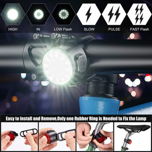 Умный велосипед задний светильник IPx6 Водонепроницаемый USB зарядка Велоспорт Хвост светильник велосипед светодиодный светильник для гор, подседельный штырь для горного велосипеда|Велосипедная фара|   | АлиЭкспресс