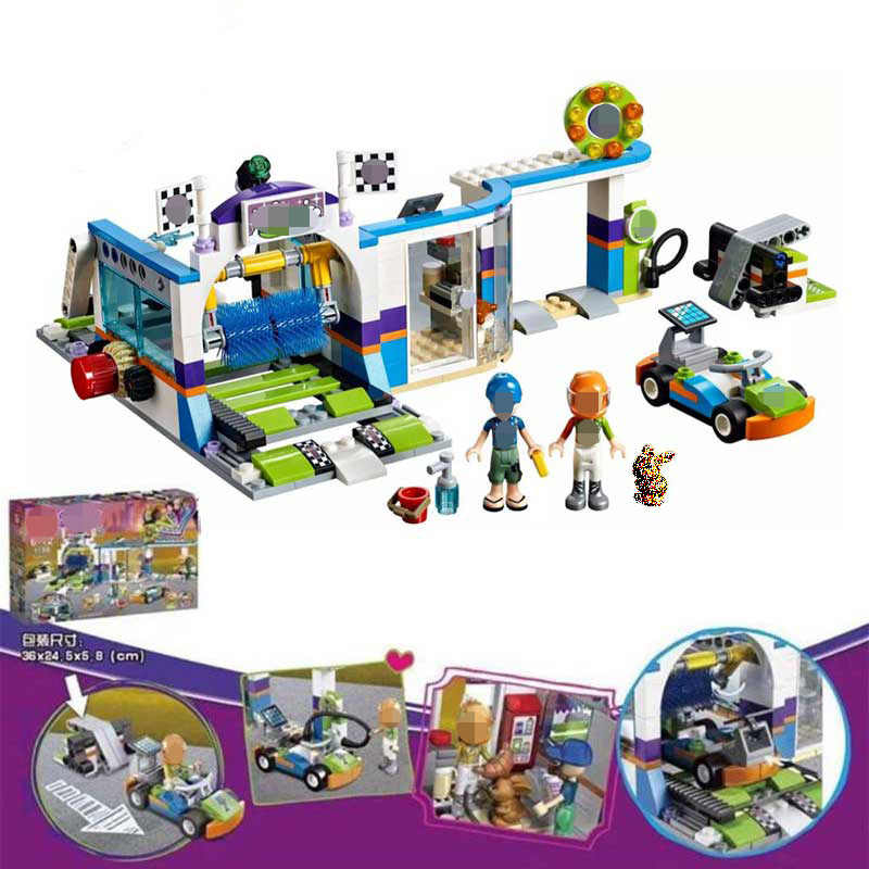 Lepining Friends 41350 Frozeninglys تكنيك ألعاب مكعبات البناء للبنات الحصان طائرة غسيل السيارات Playmobil دمى القلعة الأصلية