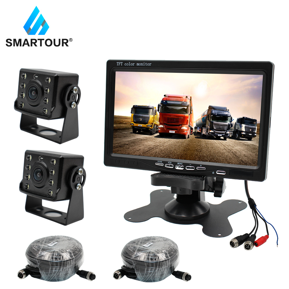 Smartour Car Bus Vans Lorry Truck Rear View Camera Reversing Night Vision Vehicle Backup Camera Waterproof For Bus Trucks