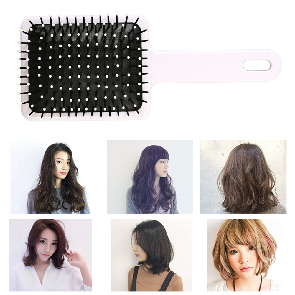 Купить с кэшбэком Hair Brush Scalp Massage Comb Anti-static Hairbrush Air Cushion Flat Comb Hair Brush Salon Hair Styling Tools