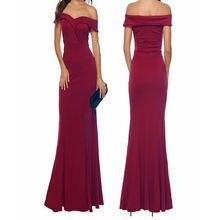 Женское платье с открытыми плечами ynqnfs длинное красное подружки