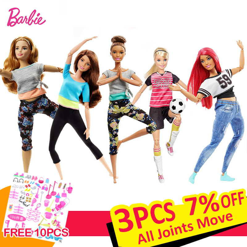 Barbie Original Dolls Beautiful American 18 Inch Dolls  Makeup Princess Brinquedos Kids Toys For Baby Girls Children Gift