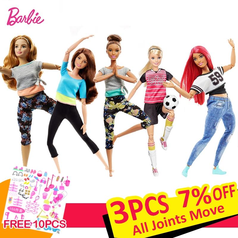 Barbie Original Dolls Beautiful American 18 Inch Dolls  Makeup Princess Brinquedos Kids Toys For Baby Girls Children Gift