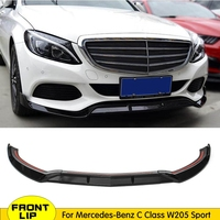 ABS Glossy Black Front Bumper Chin Lip Protector for Benz W205 C205 S205 C180 C200 C300 C43 Amg Sedan & Coupe 2015 2018
