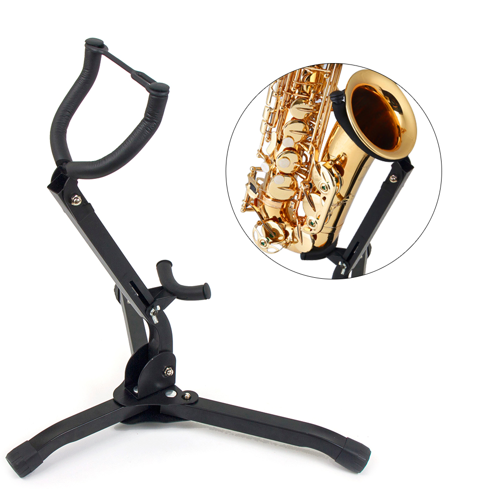 Folding Alto Saxophone Stand Sax Tenor Saxophone Stand Holder Tripod Portable Foldable Adjustable Woodwind Instruments Accessory