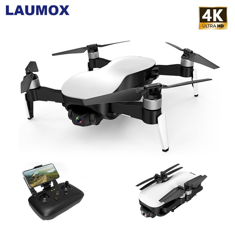 LAUMOX W12 Anti-shake 3 Axis Gimble GPS Drone With WiFi 2KM FPV 4K HD Camera Brushless Motor Foldable Quadcopter Vs EX4 X12