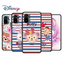 Duffy Disney Bear Cute for Xiaomi Redmi Note 10 10S 9 9T 9S 9Pro Max 8T 8Pro 8 7 6 5 Pro 5A 4X 4 Soft Black Phone Case