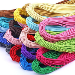 Colorful Strong Elastic Rubber Mask Handmade High Elasticity Knit Elastic Band For Diy Sewing Crafts 2m Long /2mm Wide