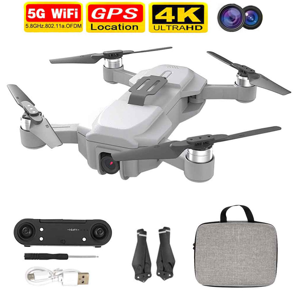 GPS RC Drone 2 4GHz Brushless Motor USB Charging Headless Mode Foldable Quadcopter 4K Camera Adults APP Control One Key Return