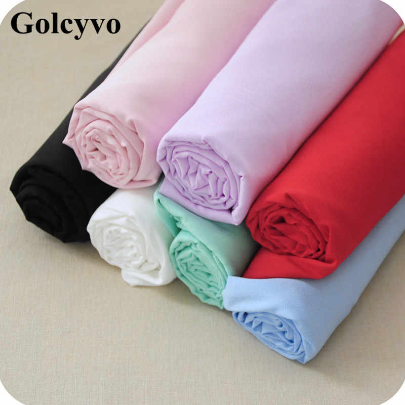 1Meter Chiffon Trim Elastic Double Wrinkled Silk Lining Cloth Fabrics Interlining Lace Sewing Clothing Curtain DIY 150cm Width