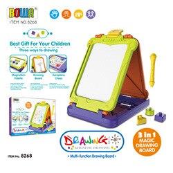 Große Größe Kinder Multi-funktionale Graffiti Skizzenbuch Stereo 3 Oberfläche Magnetische Kunststoff Tablet Gemalt Pädagogisches Spielzeug