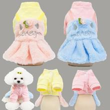 Pet Dog cotton-padded clothes Winter Warm Clothes fashion Coat Cat dress skirt For Small Medium Large