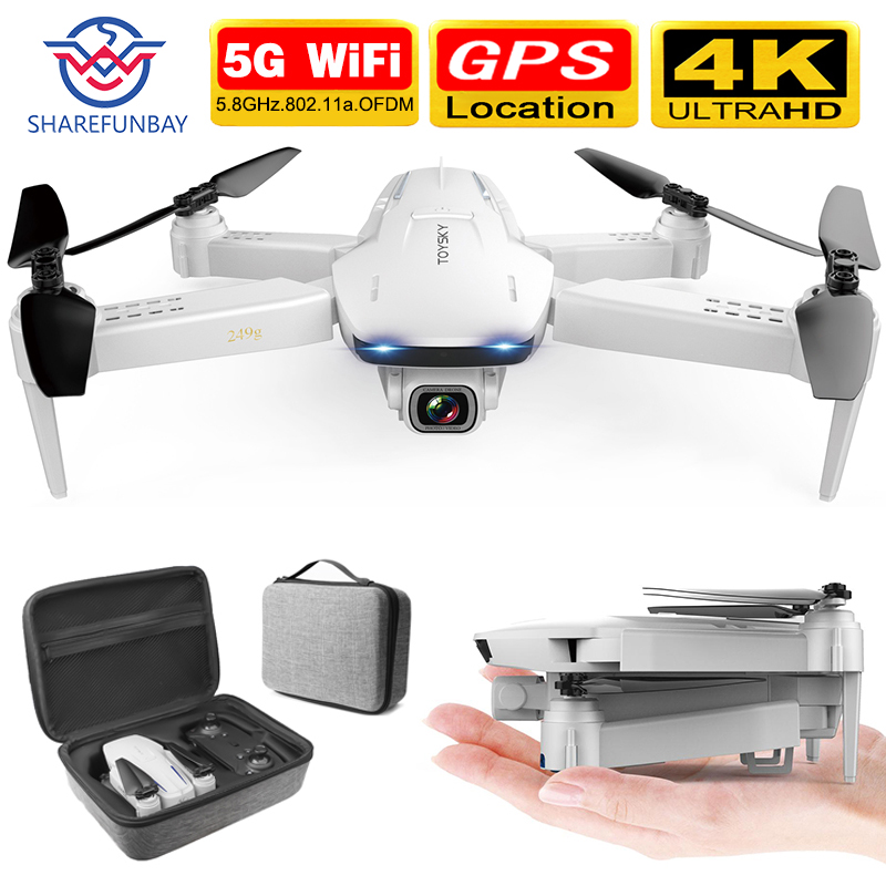SHAREFUNBAY S162 Drone Gps 4K HD 1080p 5G WiFi FPV Quadcopter Flight 20 Minutes Rc Distance 500m Drone Smart Return Drone Pro