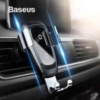 Baseus Qi chargeur sans fil voiture support pour téléphone pour iPhone Samsung support pour téléphone Mobile support évent montage gravité voiture support pour téléphone