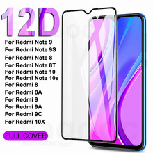 12D 9H Protection Glass On The Redmi 8 8A 9 9A 9C 10X Screen Protector For Xiaomi Redmi Note 8 9 10 Pro Max 8T 9S 10S Glass Film