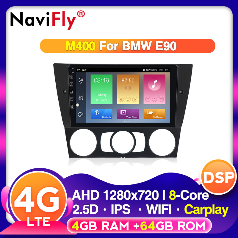 Full touch Android 10 carplay for BMW 3 Series E90 E91 E92 E93 car dvd player gps navigator radio rds wifi 4g dvr Camera image