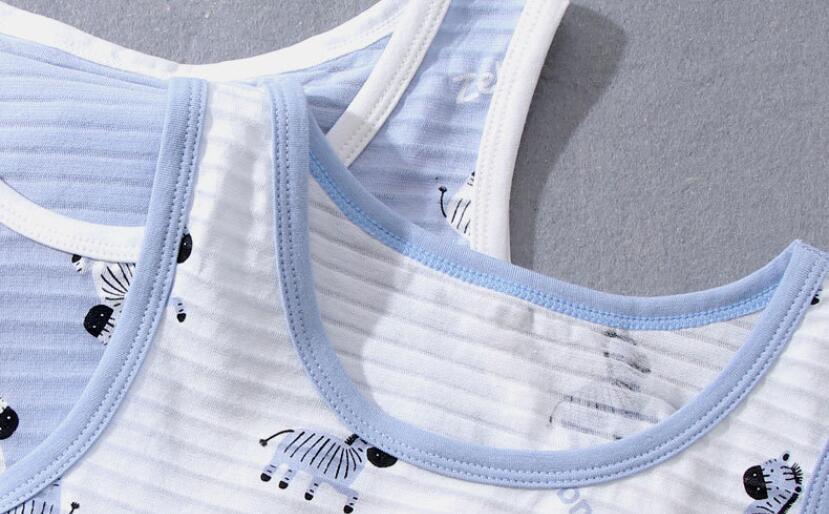 VIDMID 3pcs/lot Baby Children vest summer boys Girls tanks t-shirt Cotton tank sleeveless kids boy cartoon beach clothes 7010 06 5