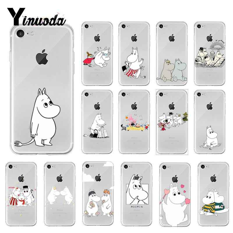 Yinuoda hippo Moomin Cover Soft Shell Phone Case for iPhone X XS MAX  6 6s 7 7plus 8 8Plus 5 5S SE XR 10