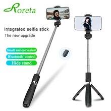 Roreta 3 In 1 Draadloze Bluetooth Selfie Stick Opvouwbare Mini Statief Uitbreiding Monopod Met Afstandsbediening Sluiter Voor Ios/Android