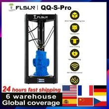 Flsun QQ-S-PRO impressora 3d interruptor de nivelamento automático de alta velocidade grande tamanho de impressão kossel delta tela de toque módulo wi-fi 32-bit placa