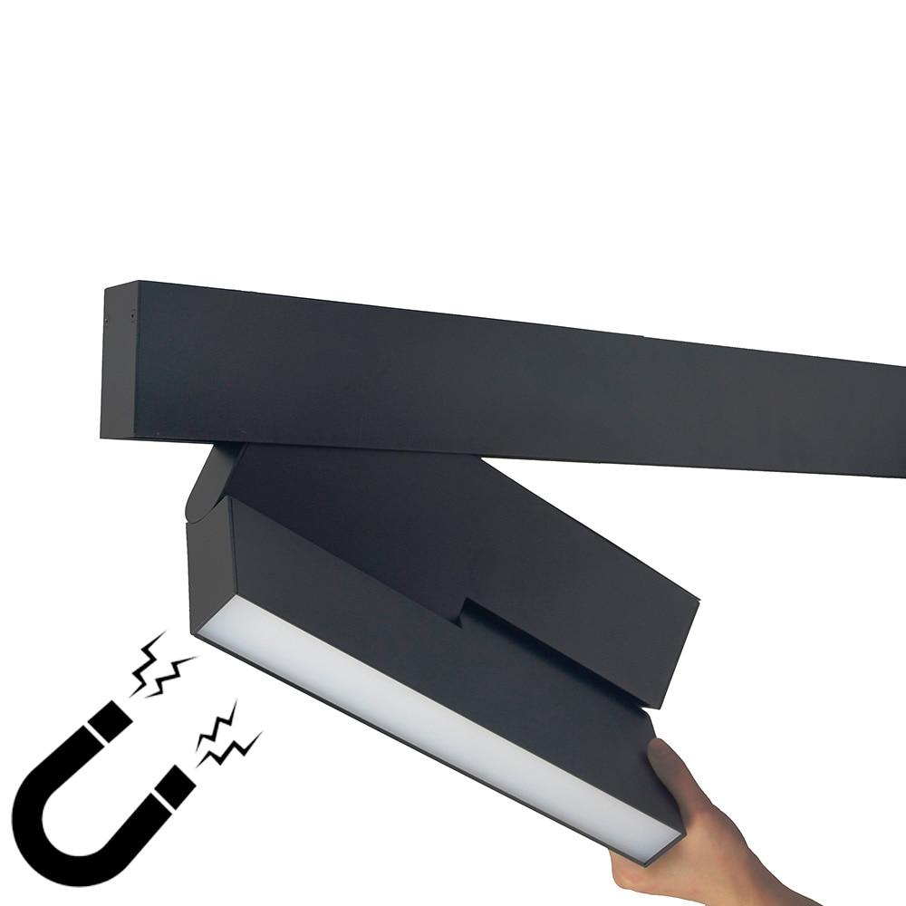 Zerouno Led Track Light Aluminum Ceiling Rail Track Lighting Rail Spotlight Replace Halogen Lamps Modern Magnetic Tracking Light