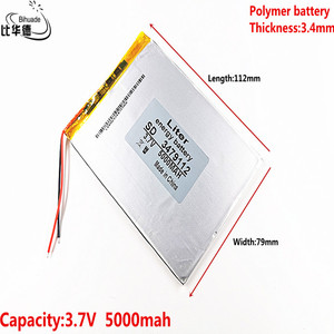 Polymer battery 9 inches tablet battery domestic the built-in rechargeable battery 3.7V 5000 mah 3479112 free shipping