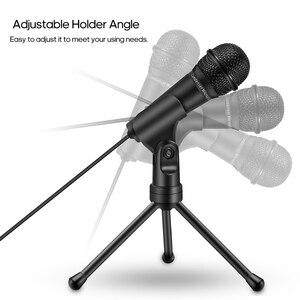 Image 3 - Конденсаторный микрофон 3,5 mmRecording микрофон Plug and Play с штатив Трипод стойка для студии радиовещания подкастинг конференции видео чат