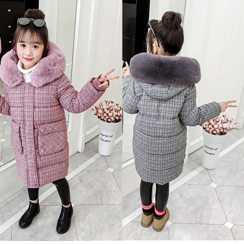 2019 New Arrival Children Winter Jacket Girl Warm Coat Thick Clothing Fur Hooded Outerwear Teenage Parkas For 4-15Years Old