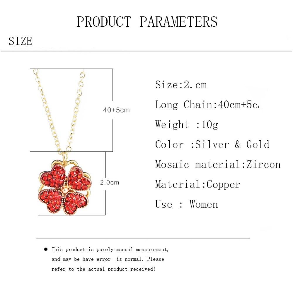 4 Leaf Clover Heart Necklace