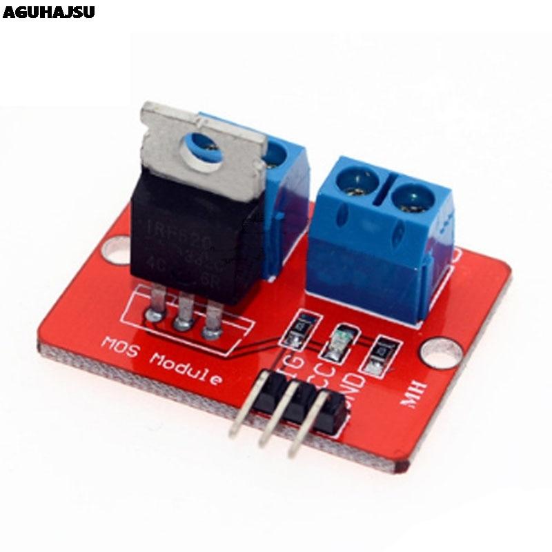 0-24 В верхняя кнопка Mosfet IRF520 драйвер MOS модуль для Arduino MCU ARM Raspberry pi