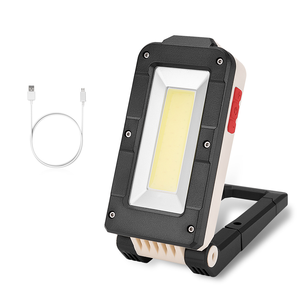 LED COB Rechargeable Magnetic Flashlight Foldable Inspection Lamp 4 Modes Work Light Strong Magnet Emergency Camping Lamp JQ